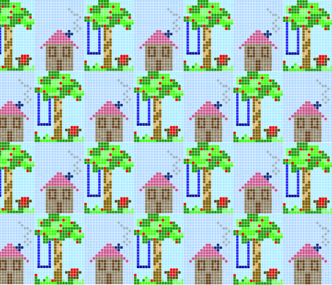 Apple Cottage fabric by rachel_alice on Spoonflower - custom fabric