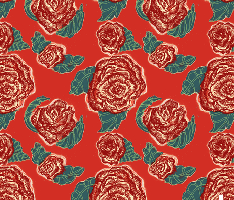 Red Roses fabric by ginaglynn on Spoonflower - custom fabric