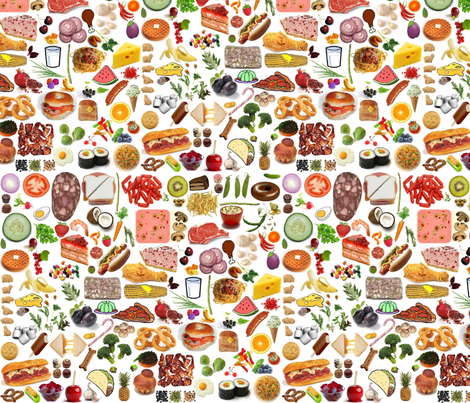 Scattered fabric by eve_s on Spoonflower - custom fabric
