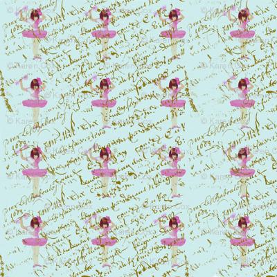 Ballerinas_on_french_script_pattern