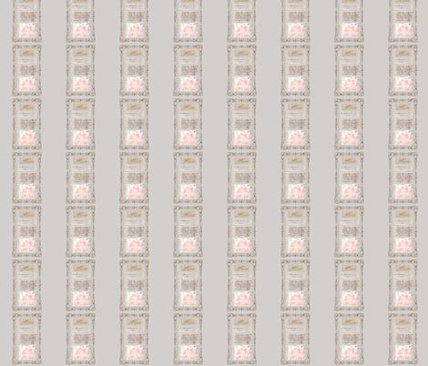 Paris Script and Peonies fabric by karenharveycox on Spoonflower - custom fabric