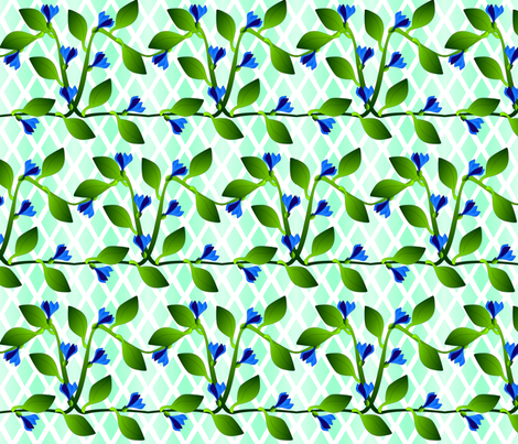 ©2011 vines fabric by glimmericks on Spoonflower - custom fabric