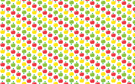 cute apple pattern fabric by irrimiri on Spoonflower - custom fabric