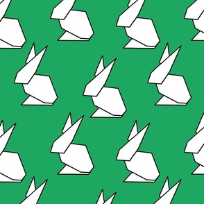 origami ears in green