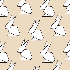 origami ears in tan