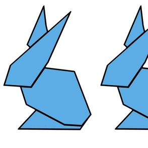 Blue origami ears