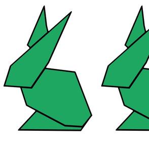 Green origami ears
