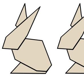Tan origami ears