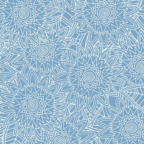 New York blue fleur fabric by scrummy on Spoonflower - custom fabric