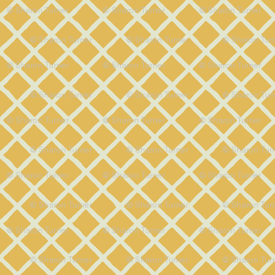 gold ivory little grid