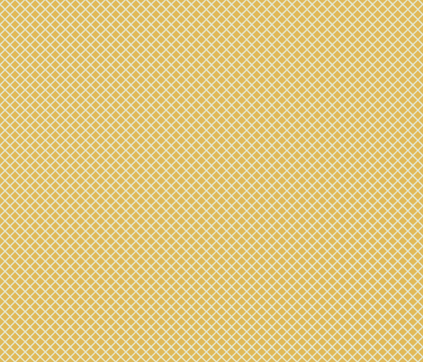 gold ivory little grid fabric by scrummy on Spoonflower - custom fabric