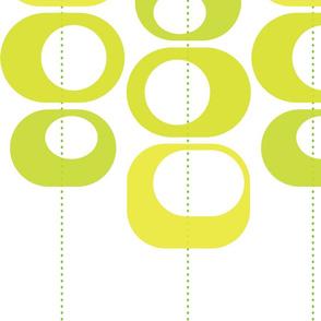 modern loops green
