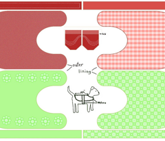 Red and Green dog coats
