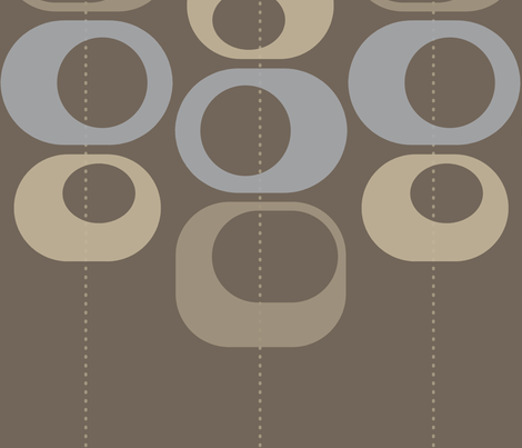 modern loops brown and gray fabric by randommodern on Spoonflower - custom fabric