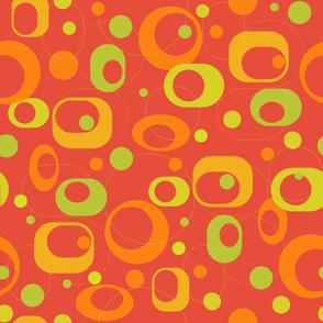 modern circles red