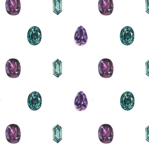 Emeralds & Amethysts...