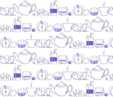 Continental Blue fabric by jmckinniss on Spoonflower - custom fabric