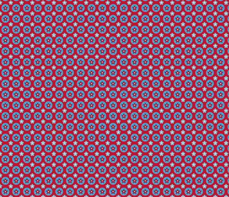 fleurette_rouge_s fabric by nadja_petremand on Spoonflower - custom fabric