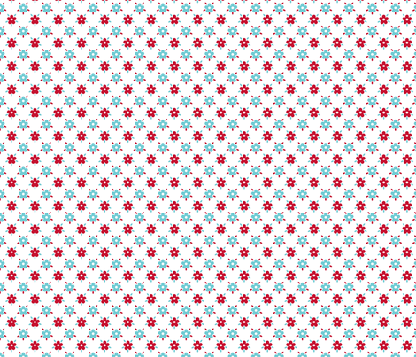 fleurettes_fond_blanc_s fabric by nadja_petremand on Spoonflower - custom fabric