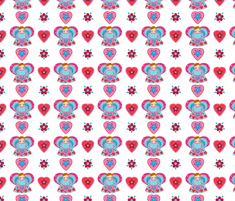mon_ange fabric by nadja_petremand on Spoonflower - custom fabric