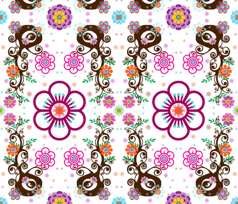 flowertree fabric by snork on Spoonflower - custom fabric