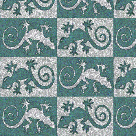 Seurat-gecko-counterchange fabric by mina on Spoonflower - custom fabric