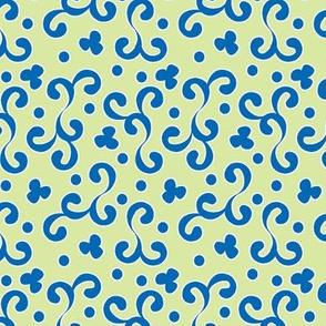 ©2011 curliques blue celadon
