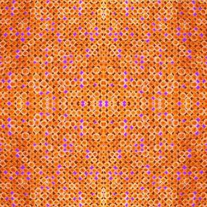 vintage percale dots-orange