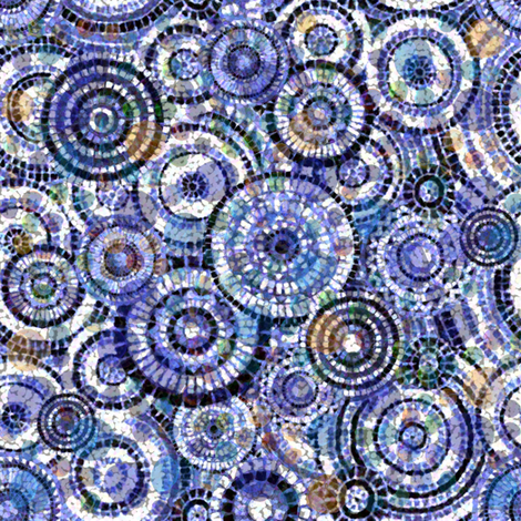 Lost in Blue fabric by poetryqn on Spoonflower - custom fabric