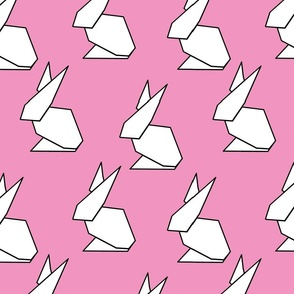 origami ears in pink