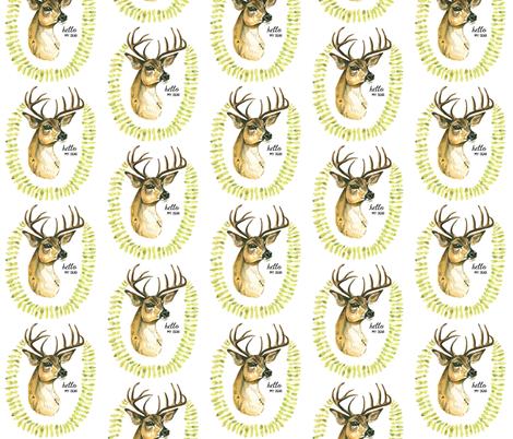 Hello Dear fabric by taraput on Spoonflower - custom fabric