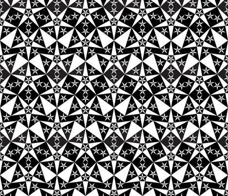 black_white_star fabric by janiris on Spoonflower - custom fabric