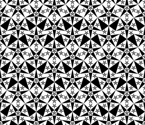 white_black_star fabric by janiris on Spoonflower - custom fabric