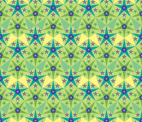 green_purple_star fabric by janiris on Spoonflower - custom fabric
