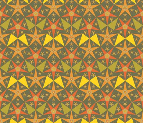 orange_green_star fabric by janiris on Spoonflower - custom fabric