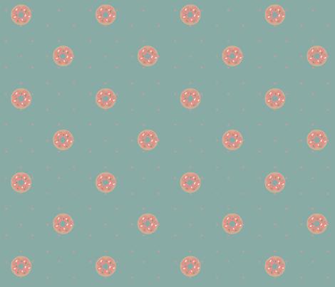 Pink Donut fabric by meliadawn on Spoonflower - custom fabric