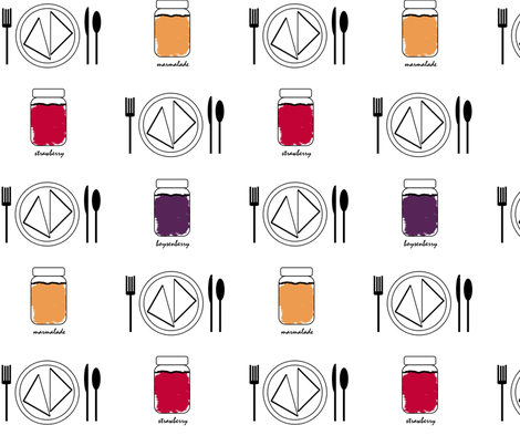 Breakfast is the Perfect Excuse to Eat Jam fabric by dawnams on Spoonflower - custom fabric