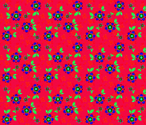 Joan's Swedish Red fabric by joanmclemore on Spoonflower - custom fabric