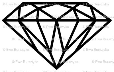 diamond black&white