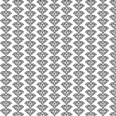diamond black&white fabric by ravynka on Spoonflower - custom fabric