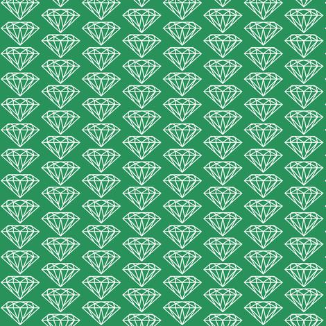 diamond green fabric by ravynka on Spoonflower - custom fabric