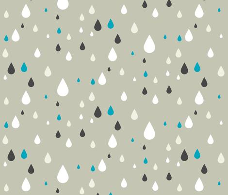 Retro drops - greys and blue fabric by ravynka on Spoonflower - custom fabric
