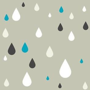 Retro drops - greys and blue