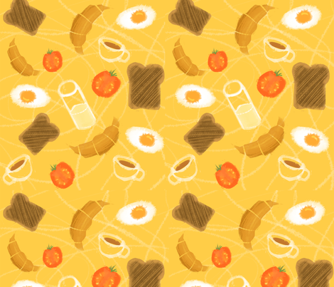 Sunny side up! fabric by risu_rose on Spoonflower - custom fabric