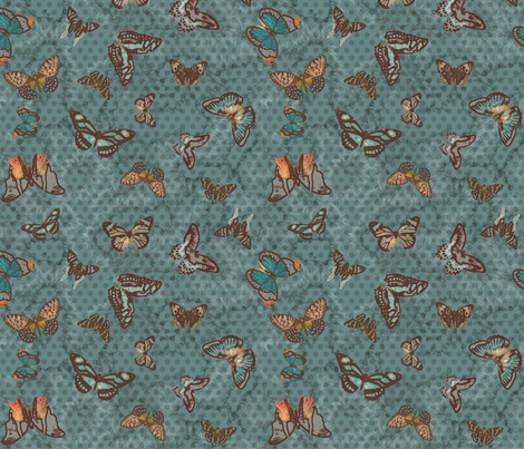 Altered Butterflies fabric by minimiel on Spoonflower - custom fabric