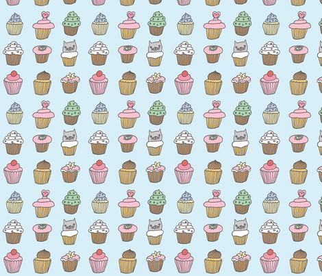 cupcakes fabric by liz-adams on Spoonflower - custom fabric