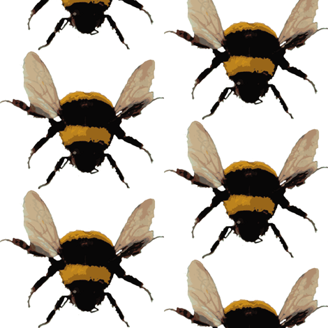 BIG bee's fabric by paragonstudios on Spoonflower - custom fabric