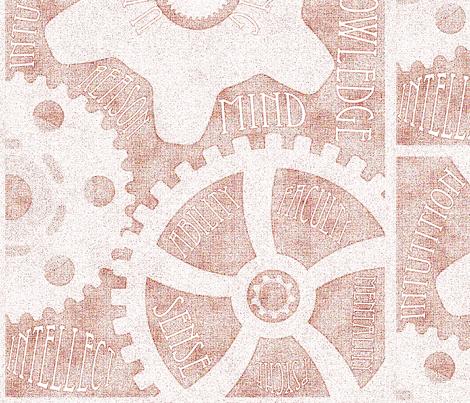 Gears of the Mind fabric by shyredfox on Spoonflower - custom fabric