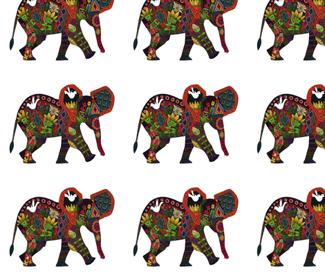 little elephant small fabric by scrummy on Spoonflower - custom fabric