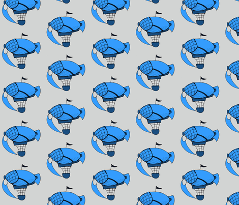 Little Blue Airships fabric by lilmissmaya on Spoonflower - custom fabric